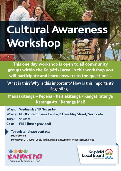 Cultural Awareness Workshop Flyer A5 2019