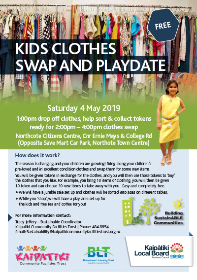 Kids Clothes Swap A5 Flyer May2019