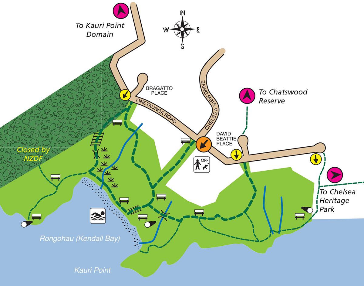 Kauri point centennial map-2021